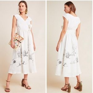 Tracy Reese Organic Linen Guinevere Dress NWT 10